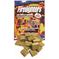 WBA035 Sureburn Firelighters, Easy-to-light 15x19cm blocks, waterproof, All natural, non-toxic, no smelly odours