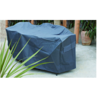 OFC037  390x200cm; Outdoor Setting Cover; Pewter Grey
