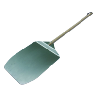35cm L 30 W; Stainless Steel Pizza Spatula; 75cm L wooden handle