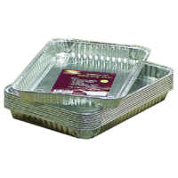 325mm L 227W 27D; Pack of 10 Aluminium Foil Roasting Trays