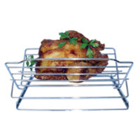 29cm L; Adjustable Chrome Roasting Rack w 6 positions