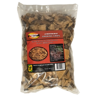 SF302 BBQ Smoking Grilling Chips 1kg CHERRY WOOD flavoured; Mild sweet fruity smoke, use with smoker box