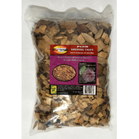 SF315 Smoking Grilling Chips 1kg PLUM flavoured; Sweet mild smokey flavour, use with smoker box