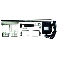 Deluxe Chrome BBQ Spit Kit; 12.5kg rating; 4 piece shaft; 240 Volt Motor