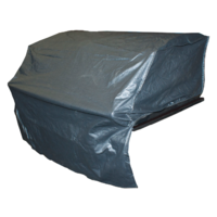 BQC007  60x105cm; Economy Hooded BBQ Cover for Built-In BBQs; Black