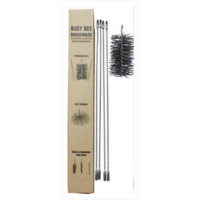 "CFC001 12' Flue Brush Kit with 4"" dia Polypropylene Brush Head; Black"