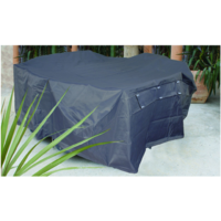OFC058  155x125cm; Outdoor Bar Setting Cover; Pewter Grey