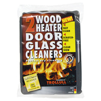 WBA000  6.5x10cm; Wood Heater Door Glass Cleaner hand blocks; Dark Grey