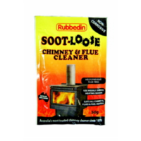 FreePost; 5 of WBA021 10x10cm; Soot Loose Chimney & Flue Cleaner; 50g sachets; Black