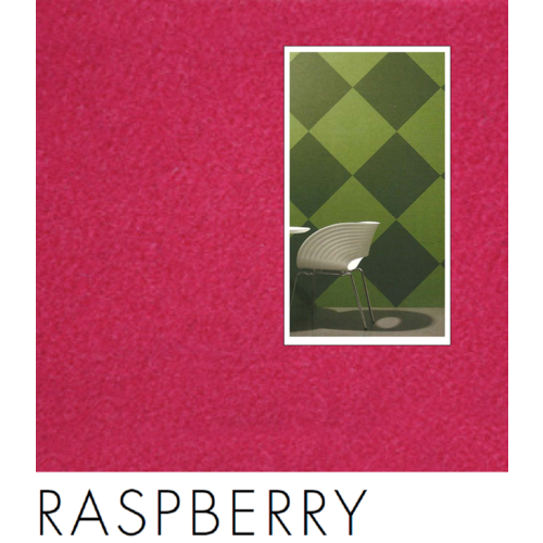 SAMPLE; RED (Raspberry Red01) 10x10cm VERTIFACE/Quietspace Acoustic Fabric