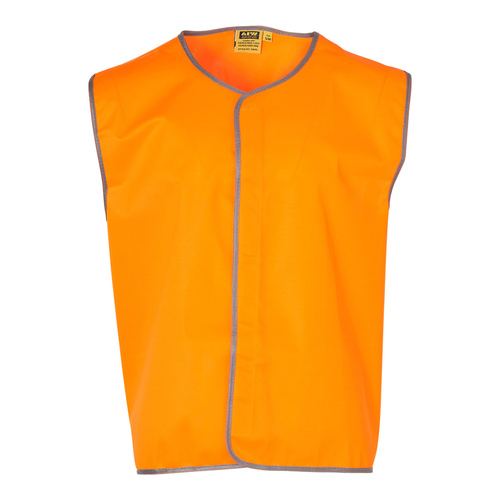 SW02 Sz 2XL; High Visibility Safety Vest 100% Polyester; Fluoro Orange