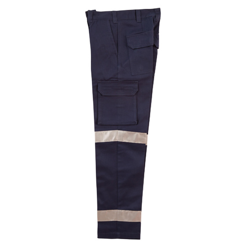 WP15HV Sz 08; Womens Drill Pants 100% HEAVY Cotton w 3M Tapes; Navy