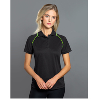 PS19 CHAMPION Diamond-knit Polyester Ladies Polo Shirt