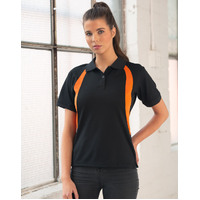 PS52 OLYMPIC S-shape contrast Polyester Ladies Polo Shirt