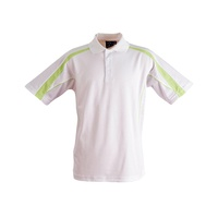 FreePost;  5 of  PS53 Sz 3XL; Fashion Polo Shirt 60% Cotton 40% Polyester; 20 colours; White with Light Green