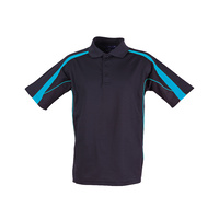 FreePost;  5 of  PS53 Sz 5XL; Fashion Polo Shirt 60% Cotton 40% Polyester; 20 colours; Navy with Aqua