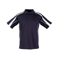 5 of  PS53 Sz S; Fashion Polo Shirt 60% Cotton 40% Polyester; 20 colours; Navy with White