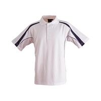 FreePost;  5 of  PS53 Sz XS; Fashion Polo Shirt 60% Cotton 40% Polyester; 20 colours; White with Navy