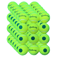 72 x Meister S1 (Stage 1) Green Spot Tennis Balls - 25% slower bounce suits 9-10 yr olds  PD038 (6 packs)