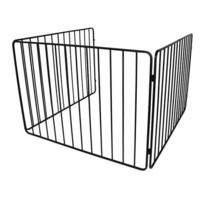 FPA009 110 x 110cm Black Steel Heater Child Guard, Fire Safety Fence