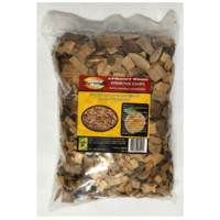 SF312 BBQ Smoking Grilling Chips 1kg Apricot Wood; Sweet mild flavoured smoke, use with smoker box