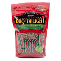 SF101 BBQrs Smoking Grilling Pellets 450g Apple flavoured; Strong sweet fruity smoke, use with smoker box
