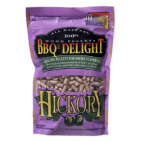 SF103 BBQrs Smoking Grilling Pellets 450g HICKORY flavoured; Bacon-flavoured smoke; Most popular, use with smoker box