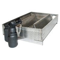 SF003 Stainless Steel COLD Smoker Box 220 L x 150 W x 65mm D; Adds a distinctive smokey flavor to meat.