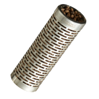 SF005 Stainless Steel Smoker Tube; 15cm L x 5cm dia; Smoke cheese, red meat, white meat, vegetables