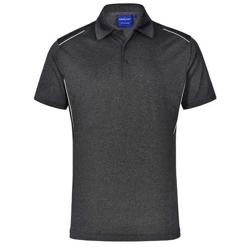 5 of PS85  Sz 2XL HARLAND RapidCool  Men's Polo Shirt 100% polyester Black
