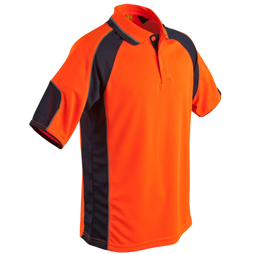5 of  SW61 Sz 2XL; High Visibility Safety Polo Shirt 100% Polyester; Fluoro Orange Navy