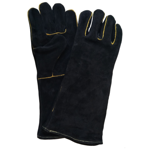 FPA051 Leather Fire Flame Resistant Gauntlets Hearth Gloves